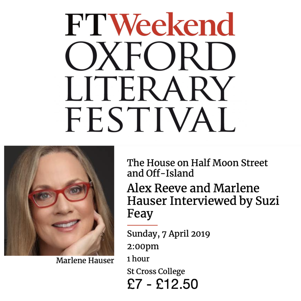 Marlene Hauser will be Interviewed by Suzi Feay at Oxford Literary Festival